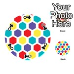 Hexagon Pattern  Playing Cards 54 (Round)  Front - ClubQ