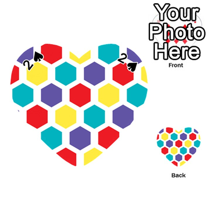 Hexagon Pattern  Playing Cards 54 (Heart)