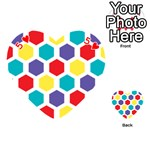 Hexagon Pattern  Playing Cards 54 (Heart)  Front - Heart5