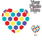 Hexagon Pattern  Playing Cards 54 (Heart)  Front - Heart7