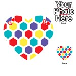 Hexagon Pattern  Playing Cards 54 (Heart)  Front - HeartQ
