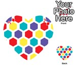 Hexagon Pattern  Playing Cards 54 (Heart)  Front - Diamond7