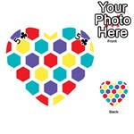 Hexagon Pattern  Playing Cards 54 (Heart)  Front - Club5