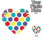 Hexagon Pattern  Playing Cards 54 (Heart)  Front - Joker1