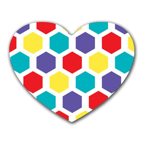 Hexagon Pattern  Heart Mousepads