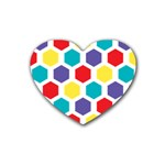Hexagon Pattern  Heart Coaster (4 pack)  Front