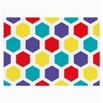Hexagon Pattern  Large Glasses Cloth (2-Side) Back