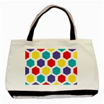 Hexagon Pattern  Basic Tote Bag (Two Sides) Front
