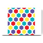Hexagon Pattern  Large Doormat  30 x20 Door Mat - 1