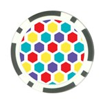 Hexagon Pattern  Poker Chip Card Guards Front
