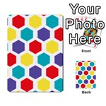 Hexagon Pattern  Multi-purpose Cards (Rectangle)  Back 34