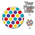 Hexagon Pattern  Multi-purpose Cards (Round)  Front 2