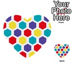 Hexagon Pattern  Multi-purpose Cards (Heart)  Back 1