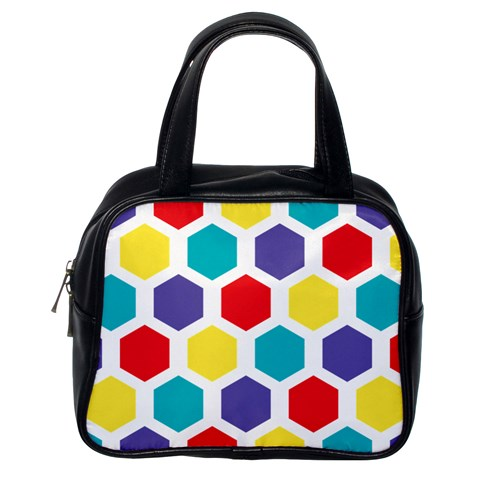 Hexagon Pattern  Classic Handbags (One Side)