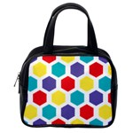 Hexagon Pattern  Classic Handbags (One Side) Front