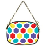Hexagon Pattern  Chain Purses (One Side)  Front