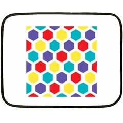 Hexagon Pattern  Fleece Blanket (Mini)