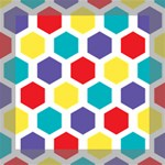 Hexagon Pattern  Mini Canvas 8  x 8  8  x 8  x 0.875  Stretched Canvas