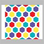 Hexagon Pattern  Canvas 24  x 20  24  x 20  x 0.875  Stretched Canvas