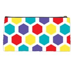 Hexagon Pattern  Pencil Cases Back