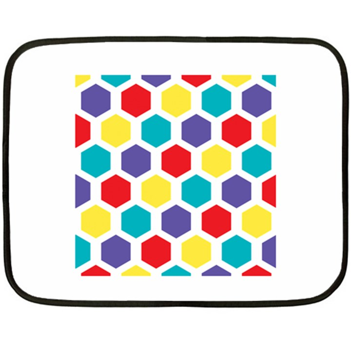 Hexagon Pattern  Double Sided Fleece Blanket (Mini)