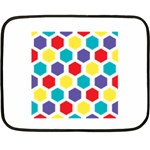Hexagon Pattern  Double Sided Fleece Blanket (Mini)  35 x27 Blanket Back