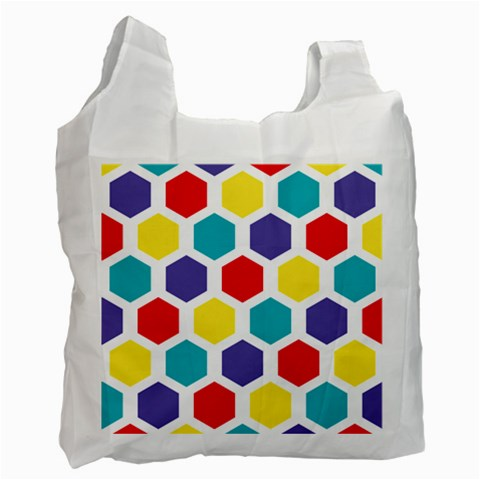 Hexagon Pattern  Recycle Bag (One Side)