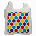 Hexagon Pattern  Recycle Bag (One Side) Front