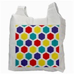 Hexagon Pattern  Recycle Bag (Two Side)  Back
