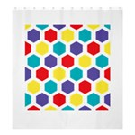 Hexagon Pattern  Shower Curtain 66  x 72  (Large)  58.75 x64.8 Curtain
