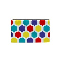 Hexagon Pattern  Cosmetic Bag (Small)