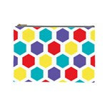 Hexagon Pattern  Cosmetic Bag (Large)  Front