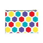Hexagon Pattern  Cosmetic Bag (Large)  Back