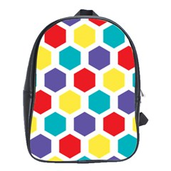 Hexagon Pattern  School Bags(Large)