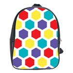 Hexagon Pattern  School Bags(Large)  Front