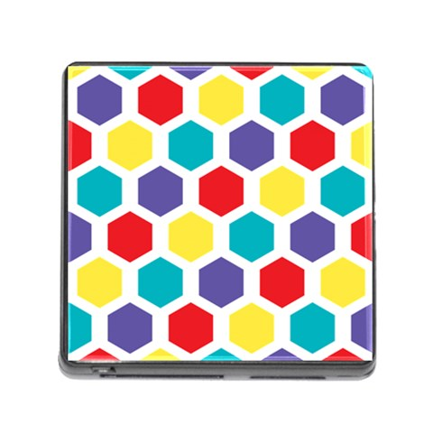 Hexagon Pattern  Memory Card Reader (Square)
