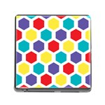 Hexagon Pattern  Memory Card Reader (Square) Front