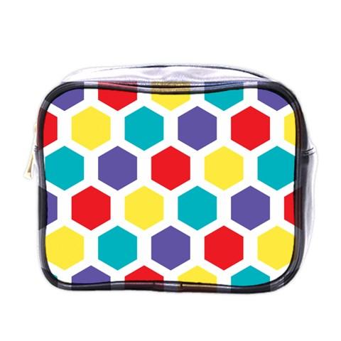 Hexagon Pattern  Mini Toiletries Bags