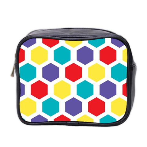 Hexagon Pattern  Mini Toiletries Bag 2-Side