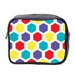 Hexagon Pattern  Mini Toiletries Bag 2-Side Front