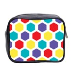 Hexagon Pattern  Mini Toiletries Bag 2-Side Back