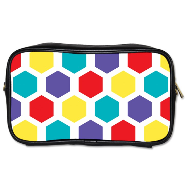 Hexagon Pattern  Toiletries Bags 2-Side