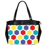 Hexagon Pattern  Office Handbags (2 Sides)  Front
