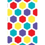Hexagon Pattern  5.5  x 8.5  Notebooks Back Cover Inside