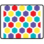 Hexagon Pattern  Fleece Blanket (Medium)  60 x50 Blanket Front