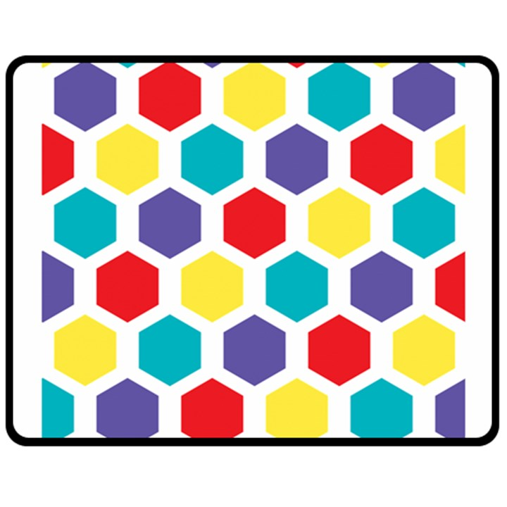 Hexagon Pattern  Fleece Blanket (Medium)