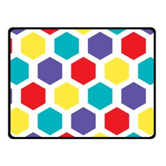 Hexagon Pattern  Fleece Blanket (Small)