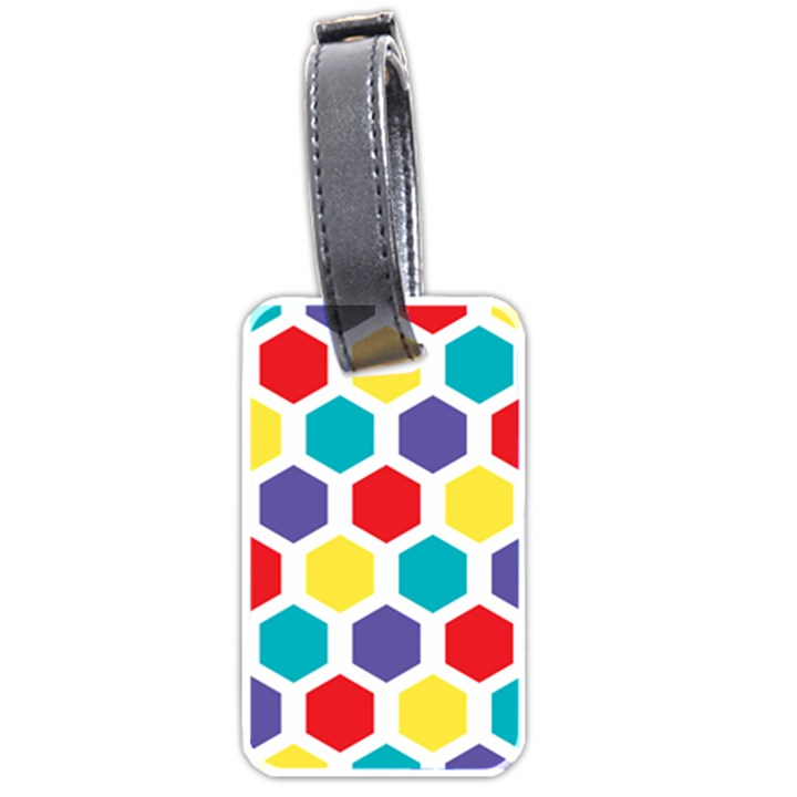 Hexagon Pattern  Luggage Tags (One Side)