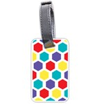 Hexagon Pattern  Luggage Tags (Two Sides) Back