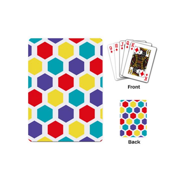 Hexagon Pattern  Playing Cards (Mini)